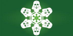Новогодние украшения своими руками: снежинки в стиле Star Wars