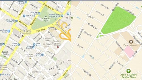 Google распространила тестовую версию своих карт разработчикам