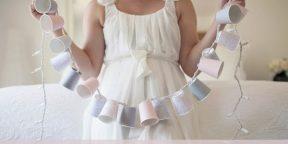Новогодние украшения своими руками: гирлянда из бумажных стаканчиков