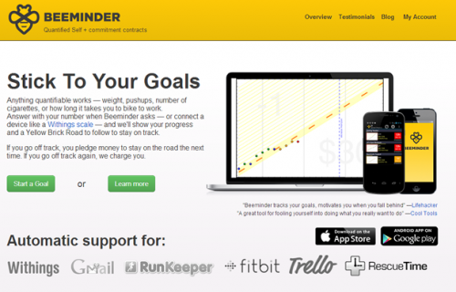 Beeminder - онлайновый сервис, который поможет в достижении целей
