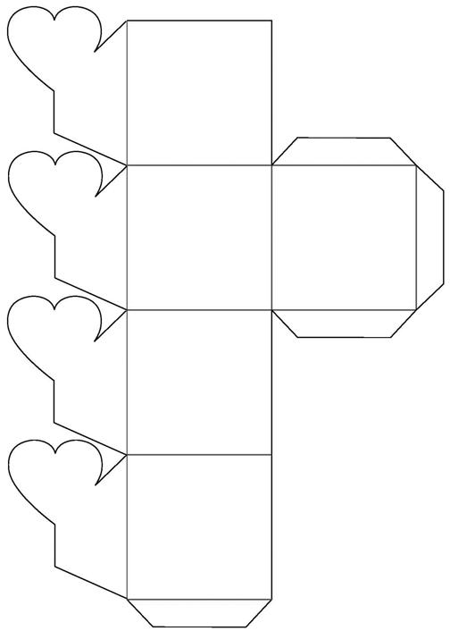 подарочные коробочки: шаблон