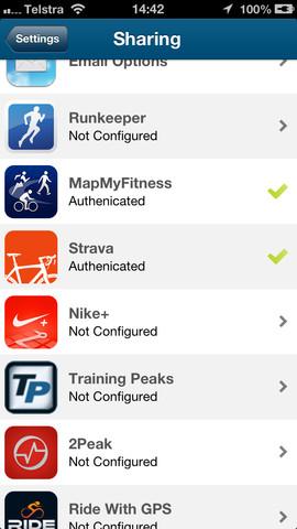 Wahoo Fitness для iPhone — позволяет публиковать ...