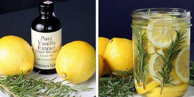 натуральные ароматизаторы для дома: Ароматизатор из лимона, розмарина и ванили