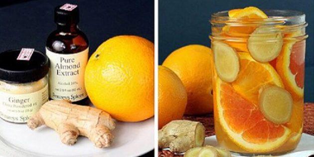 натуральные ароматизаторы для дома: Ароматизатор из апельсина, имбиря и миндаля