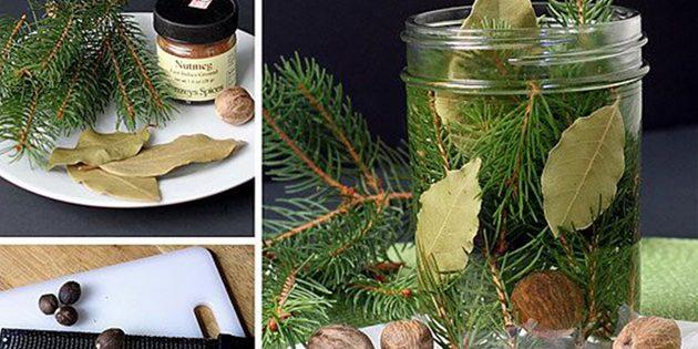 Как сделать ароматизаторы своими руками: Ароматизатор из хвои, мускатных орехов и лавровых листьев
