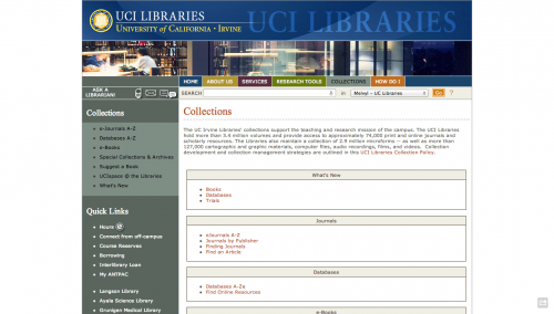 Collections   UCI Libraries