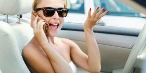 Водитель за рулем с мобильным телефоном - обезьяна с гранатой