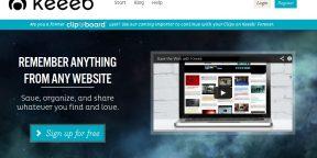 Keeeb - онлайновый альбом для цифровых вырезок