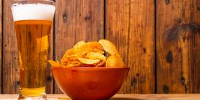 Привычная еда: пиво + чипсы = ♥…?