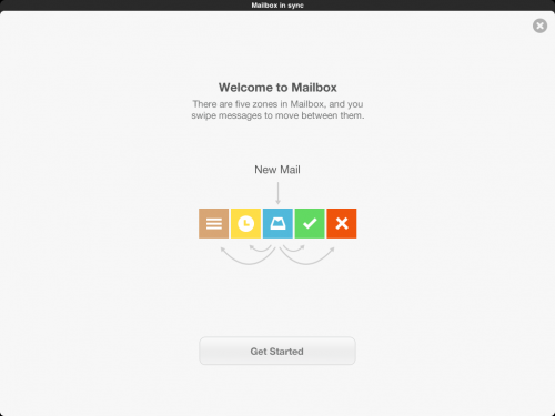 Mailbox for iPad welcome