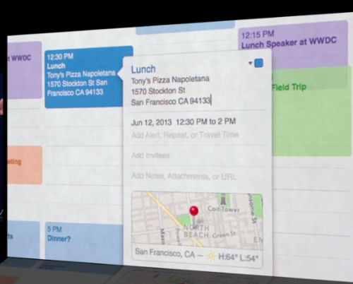 Apple maps OS X Mavericks