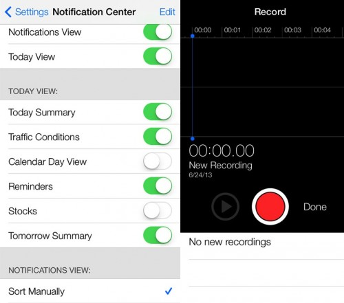 voice memo ios 7 beta 2