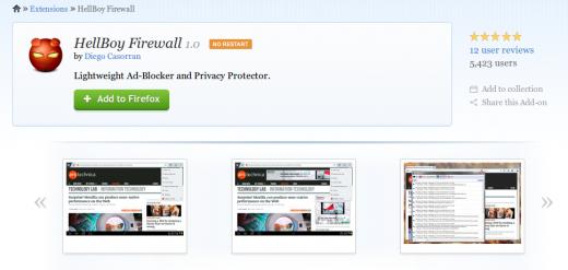 HellBoy Firewall: легкий блокировщик рекламы для Firefox