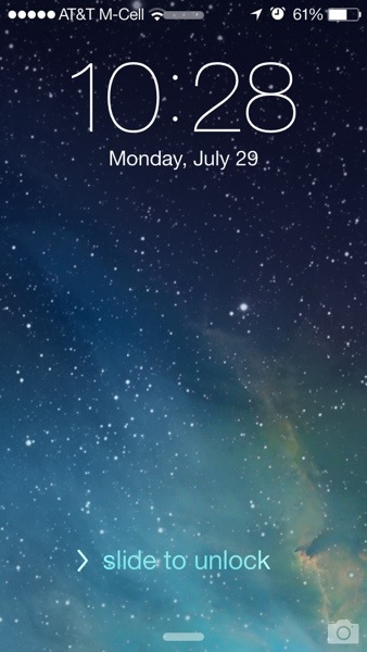 slide to unlock ios 7 beta 4