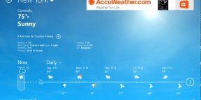 AccuWeather для Windows 8 — настоящая погодная станция в вашем ПК
