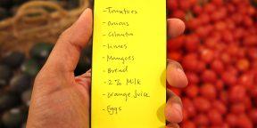 Идеальный список задач и покупок — задняя сторона вашего смартфона!