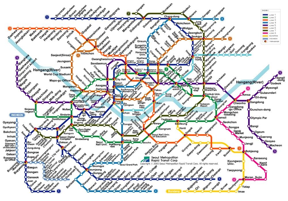 карта метро сеула скачать