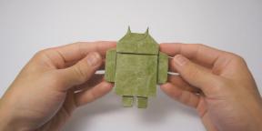 Как сделать оригами зеленого робота Android