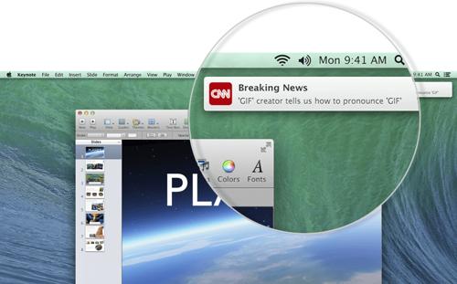 Apple напомнила о push-уведомлениях в OS X Mavericks
