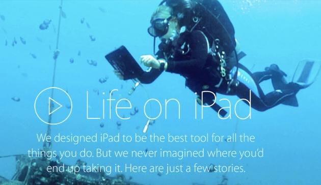 На сайте Apple появилась промо-страница Life on iPad