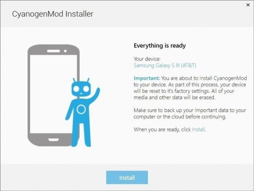 Cyanogenmod-Installer-ROM-ready