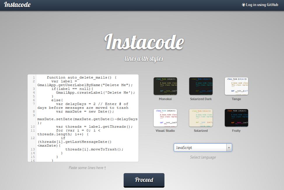 Instacode - красивая публикация исходных кодов - Лайфхакер