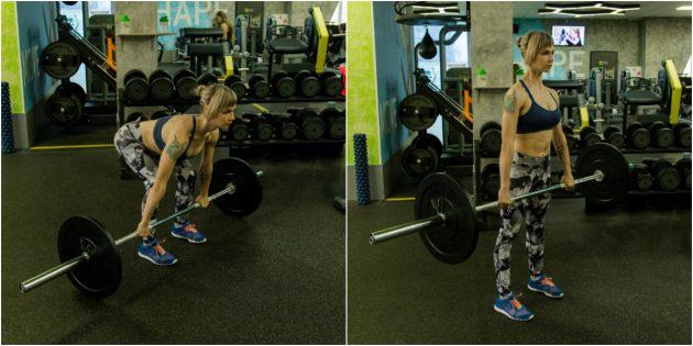 тренировка в тренажерном зале: Становая тяга