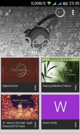 Beat - музыкальный облачный плеер для Android
