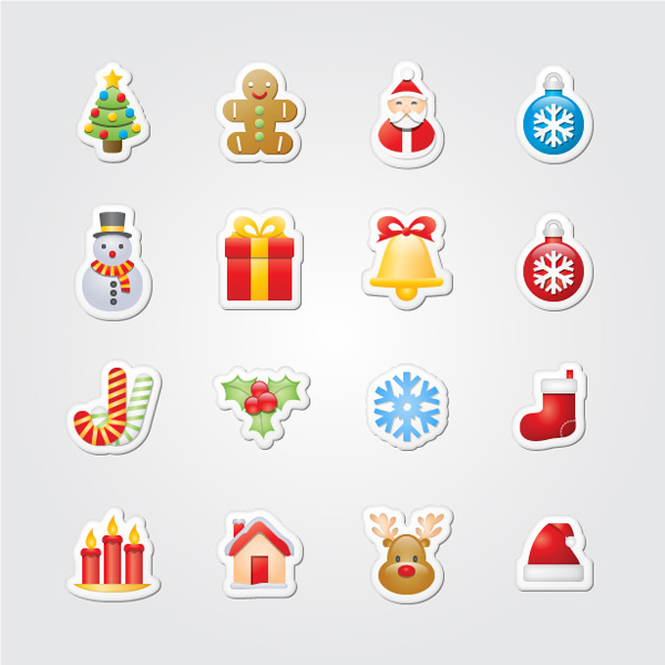 """Xmas Stickers"" by Webdesigner Depot"