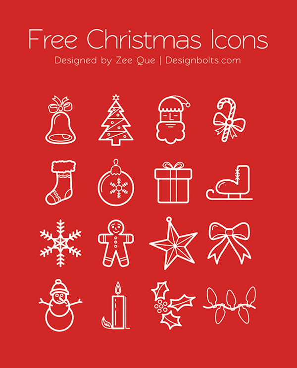 Beautiful Free Christmas Icons by Zee Que
