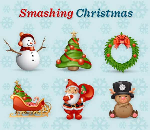 Free Smashing Christmas Icon Set by The Smashing Editorial
