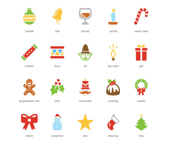 Freebie: Festive Christmas Icon Pack (20 .EPS Icons) by The Smashing Editorial