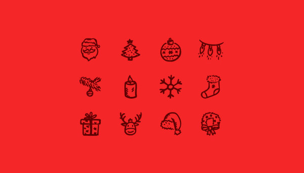 Merry Icons Free by Hand Drawn Goods