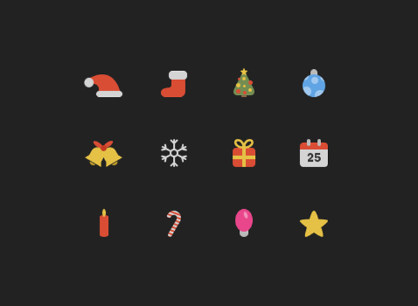 Christmas Icons by gpritiranjan