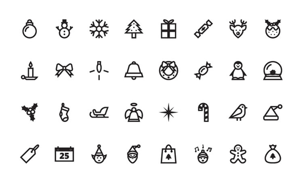 Free Christmas Vector Icon Set by Speckyboy Editors