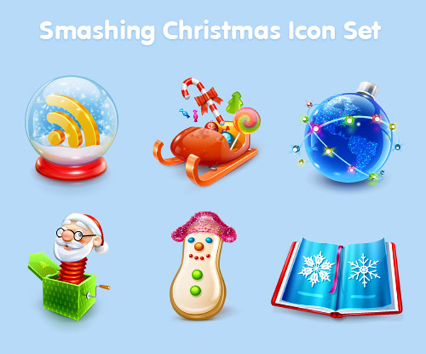 Smashing Christmas Icon Sets by Vitaly Friedman