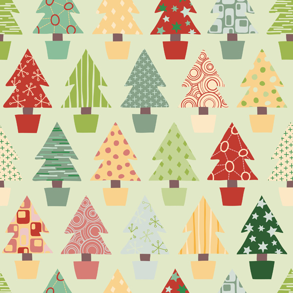 Elegant Christmas Background Pattern Vector Material