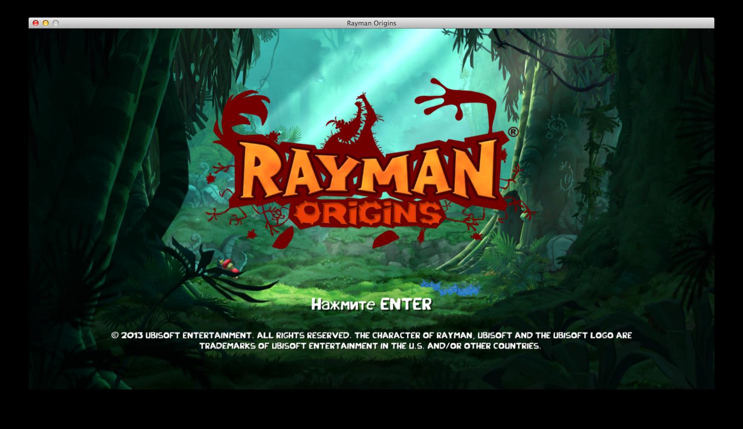 Rayman Origins: красочный платформер из 90-х на наших Mac