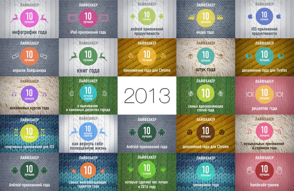 Все Новогодние ТОПы Лайфхакера за 2013 год!