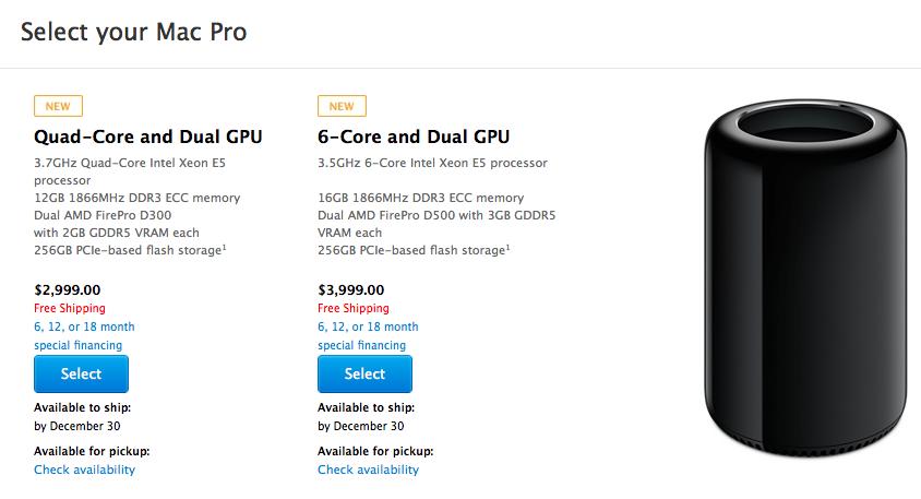 Спрос на новый Mac Pro превысил предложение