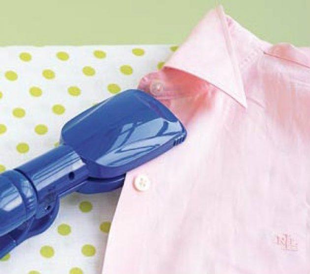как быстро погладить ворот рубашки