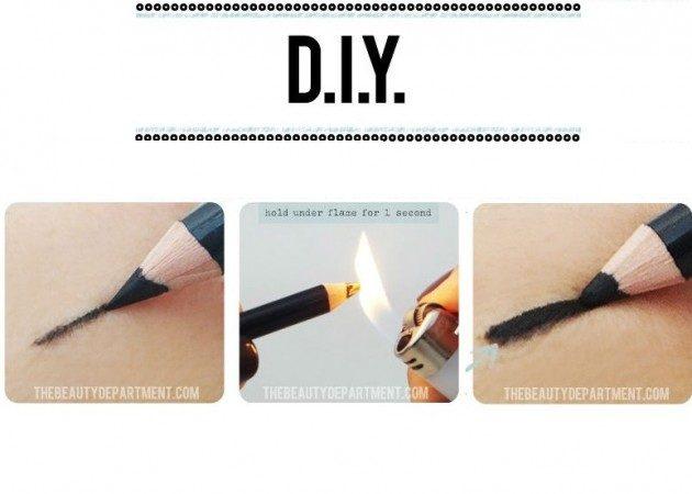 как сделать карандаш для глаз мягче