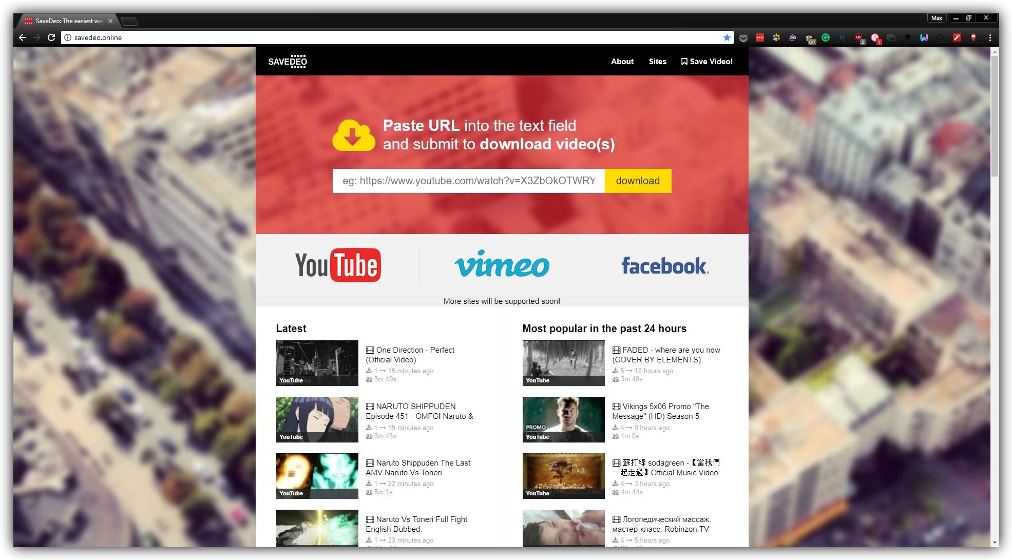 Как загрузить видео с Youtube, Vimeo, Facebook, Instagram