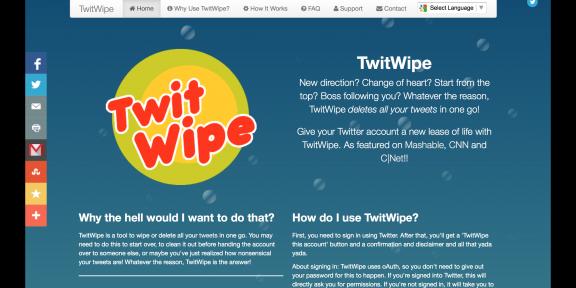 Как удалить все ваши твиты двумя кликами
