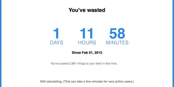Узнайте как много времени вы потратили просиживая в Facebook