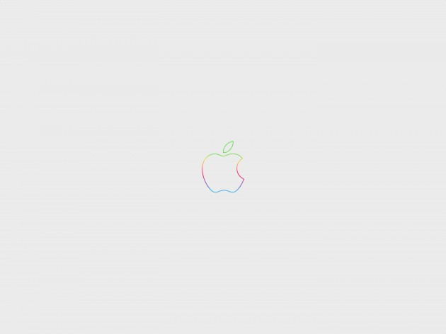 anniversary-apple-logo-rainbow-offwhite-wallpaper