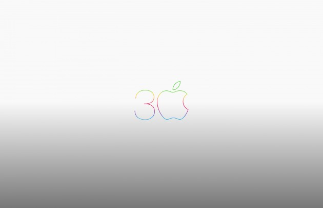 apple-30th-anniversary-mac-logo-grey-wallpaper