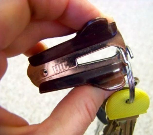 как снять ключ с кольца