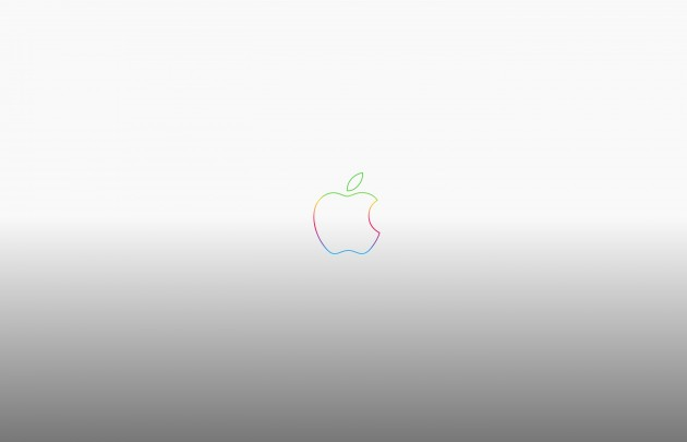 rainbow-apple-logo-anniversary-grey-wallpaper