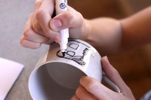 как сделать кружку с надписью
